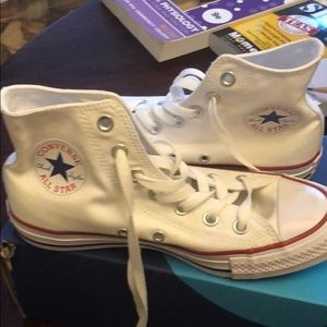 Worn once high-top white converse